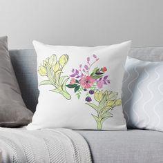 Scatter Cushions, Throw Pillows, Botanical Illustration, Pattern Design, Floral Design, Original Art, Bouquet, Art Prints, Printed