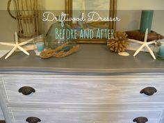 Painted Driftwood Dresser / Clockworkinteriors.com
