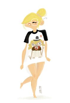 Fashion doodles by Betowers, via Behance