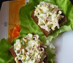 Polish Recipes, Avocado Toast, Salad Recipes, Potato Salad, Salads, Sandwiches, Fish, Breakfast, Ethnic Recipes