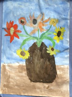 We just love this still-life #watercolor painting by Dulcie , 6 years old, our Artist Of The Day on 09/26/2012! #kidart