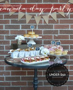 How to Throw a Canada Day Party for Under $50 Obscure Holidays, Canada Day Fireworks, Canada Day Party, Canadian Holidays, Party Food Platters, Cake Templates, Dinner Party Menu, Happy Canada Day, Canadian Food