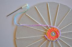 DIY Kids Craft - weave wheel