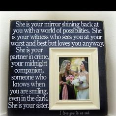 Something to give my maid of honor after the wedding as a thank u