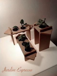 Microcosmos - Coleção Jardim Expresso. Reuso de cápsulas de café para decoração viva.