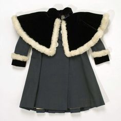 A posh, fur-trimmed child's coat made in France between 1895 and 1899.