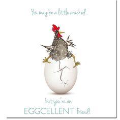 Pollo tarjeta tarjeta de felicitación de excelentes amigo