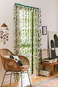 Shop Vine Curtain at Urban Outfitters today. We carry all the latest styles, colours and brands for you to choose from right here. Boho Room, Boho Living Room, Living Room Decor, Boho Teen Bedroom, Room Decor Boho, Teen Room Decor, Room Ideas Bedroom, Bedroom Decor, Garden Bedroom