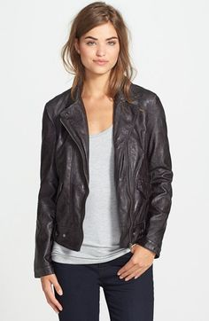 KUT from the Kloth 'Dean' Distressed Faux Leather Jacket—got a reddish brown version of this in the mail from StitchFix last night and I can't be more thrilled... Literally what I've been looking for for over a year, dropped right on my doorstep, and at a price-point I'm willing to work with!