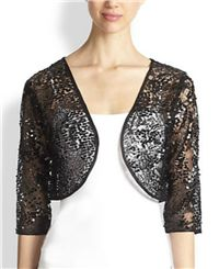 Harrison Morgan - Sequined Lace Bolero: For a truly formal affair, this sequin and lace bolero is a timeless treasure.