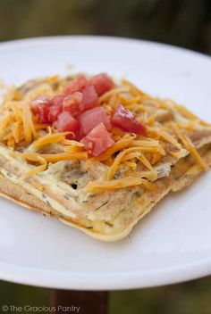 Clean Eating Waffle Iron Omelets