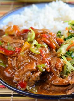 Slimming Eats Slow Cooked Chinese Style Pork Tenderloin - gluten free, dairy free, Slimming World (SP) and Weight Watchers friendly