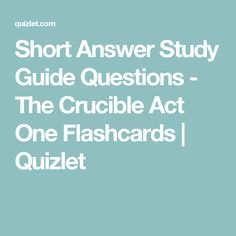 Crucible Task Cards  Activities  Quizzes  Discussion Questions SlidePlayer The Crucible Act   Discussion Study Questions