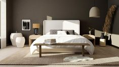 how to mix styles Large Floor Vase, End Of Bed Bench, Minimalist Bedroom, Minimalist Style, Traditional Furniture, Furniture Styles, Color Of The Year, House Design, Interior Design