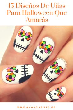 15 #DiseñosDeUñas Para #Halloween Que Amarás Halloween Nail Designs, Halloween Nail Art, Pedicure Nails, Manicure, Harry Potter Nail Art, Local Nail Salons, Cotton Candy Nails, Different Types Of Nails, Pretty Hands