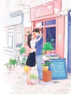 Couple Manga, Love Cartoon Couple, Anime Love Couple, Anime Couples Manga, Girl Cartoon, Cartoon Art, Cute Couple Drawings, Cute Couple Art, Cute Drawings