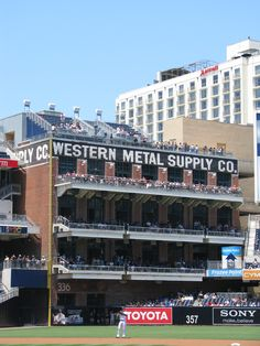 San Diego Padres - Petco Park My Mom worked at Western Metal when I was a little kid. My family were big Padre fans. Mom would be thrilled to see that the Padres baseball park is in her old stomping grounds.