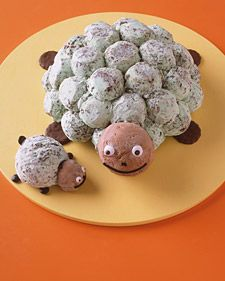 Turtle Icecream Cake - I would try this with homemade icecream colored green because my daughter doesn't care for mint.