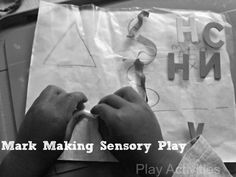Mark Making Sensory Play from Day 8 of 31 days of Sensory Play