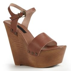 Tan wedges from Bakers Tan Wedges, Spring Summer Fashion, Footwear, Pairs, My Style, Shoes, Zapatos, Shoe, Shoes Outlet