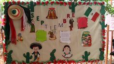 Periodico mural septiembre School Decorations, School Themes, Classroom Crafts, Music Classroom, Miss Candy, Heritage Crafts, Back To School Bulletin Boards, Hispanic Heritage Month, Mexican Party