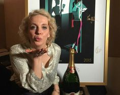 Amanda blowing a kiss backstage at The BAFTA TV Awards London - 10th May 2015