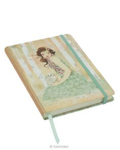 Willow Hardcover Notebook - Mademoiselle Snow #Santoro #Santorolondon #santorowillow #morigirl #willow