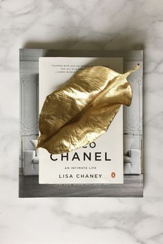 DIY: gold faux metal leaf