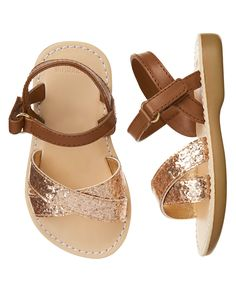 Glitter Sandals Glitter Sandals, Gold Sandals, Gladiator Sandals, Toddler Girl Shoes, Toddler Girls, Girls Shoes, Baby Shoes, Fruit Punch, Gymboree