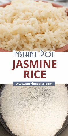 Jasmine rice is naturally gluten-free. Very easy in the instant pot, this rice will go well with any Asian Style dishes. This Instant Pot Jasmin rice is so easy to make and in addition, it is perfectly fluffy and tender. You can forget about the soggy, undercooked, or overcooked rice from now on, when using this pressure cooker rice recipe. via @corriecooksblog Pressure Cooker Rice, Best Pressure Cooker Recipes, Instant Pot Pressure Cooker, Vegan Side Dishes, Side Dishes Easy, Side Dish Recipes, Perfect Jasmine Rice, Cooking Jasmine Rice, Brown Rice Recipes