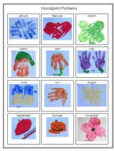 2015 Handprint Calendar Template Printable from Share & Remember