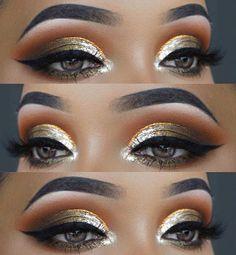 Trendy Metallic Eye Makeup for Summer