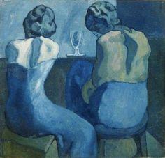 Pablo Picasso, Deux femmes au bar, 1902 on ArtStack #pablo-picasso #art