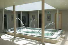 Our 17ft x 10ft #hydropool has five different water-jets stations to massage and manipulate the major muscle groups.  It also features water fountains for shoulder and neck massage and air loungers for full body massage.