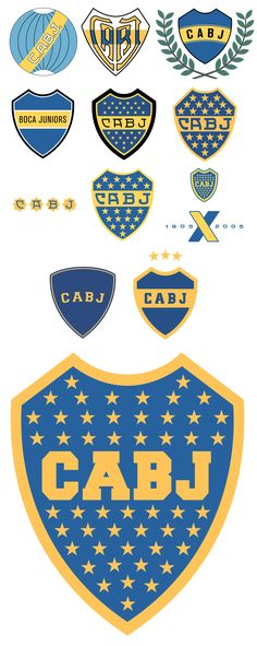 Club Atlético Boca Juniors club badge evolution