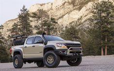 Indir duvar kağıdı SEMA Chevrolet Colorado ZR2 AEV 007, 4k, 2017 otomobil, SUV, Chevrolet Colorado, pickup, Chevrolet