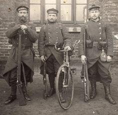 Fusiliers Marins. WWI era. Going to war? Catch a bike!