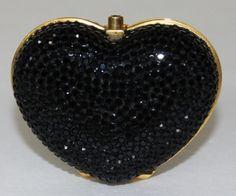 Judith Leiber Swarovski Crystal Heart Pill Box