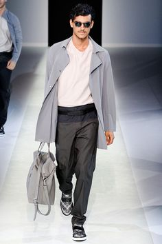 Emporio Armani Spring 2014 Menswear Collection Slideshow on Style.com
