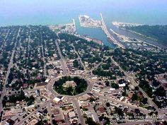 Goderich, Ontario, Canada - My father's hometown. I'm sure I saw the place from the air when my father purchased a ride in a small plane when I was a child - but don't remember the details.