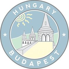 Fisherman's Bastion, Budapest, Hungary, circle, blue