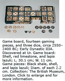 Sumerian game board. The Sumerians were the first and earliest civilization of Mesopotamia (now Iran), between the Tigris and Euphrates rivers
