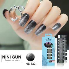 100% Nail Polish Strip Decoration Nails Art Sticker Pegatinas Nails Art Fashion Quick DIY Nail Patch Changing Color Sticker