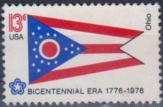 United States - Ohio - Bicentennial Era 1776-1976 Postage Stamp.