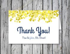 Bubbly Bridal Shower Thank You Note / DIY by RejoiceGraphics