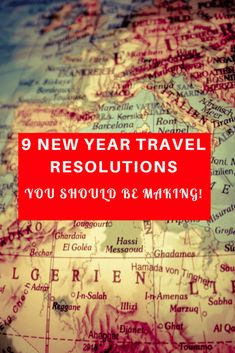 If you're off travelling this year, then you might like to consider 9 New Year Travel Resolutions You Should Be Making!