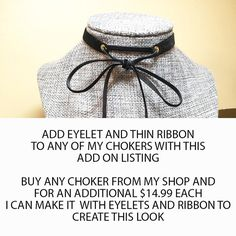 ADD ON Listing  I can add eyelets to any of my by RoseyJohnny