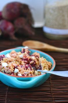 roasted beet and goat cheese quinoa
