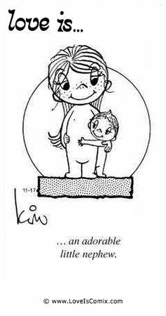 El amor es ... un adorable pequeño sobrino.