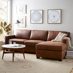 Modern Furniture Living Room Leather navy blue sectional sofa - foter | home sweet home | pinterest